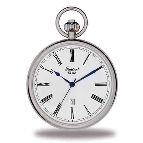 Rapport London Open Face Pocket Watch Quartz // PW73
