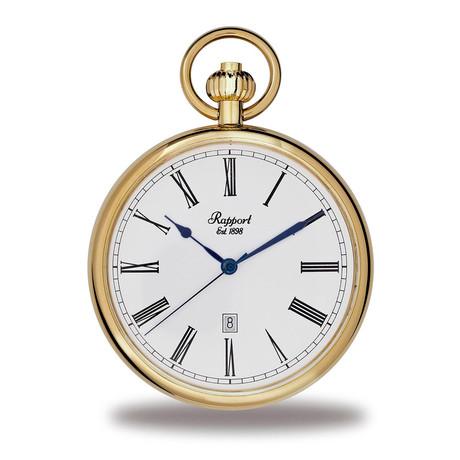 Rapport Open Face Pocket Watch Quartz // PW72