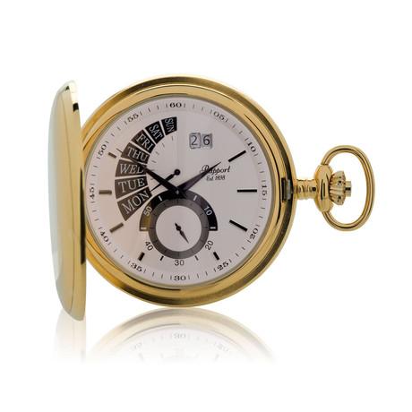 Rapport Full Hunter Retrograde Date Pocket Watch Quartz // PW74