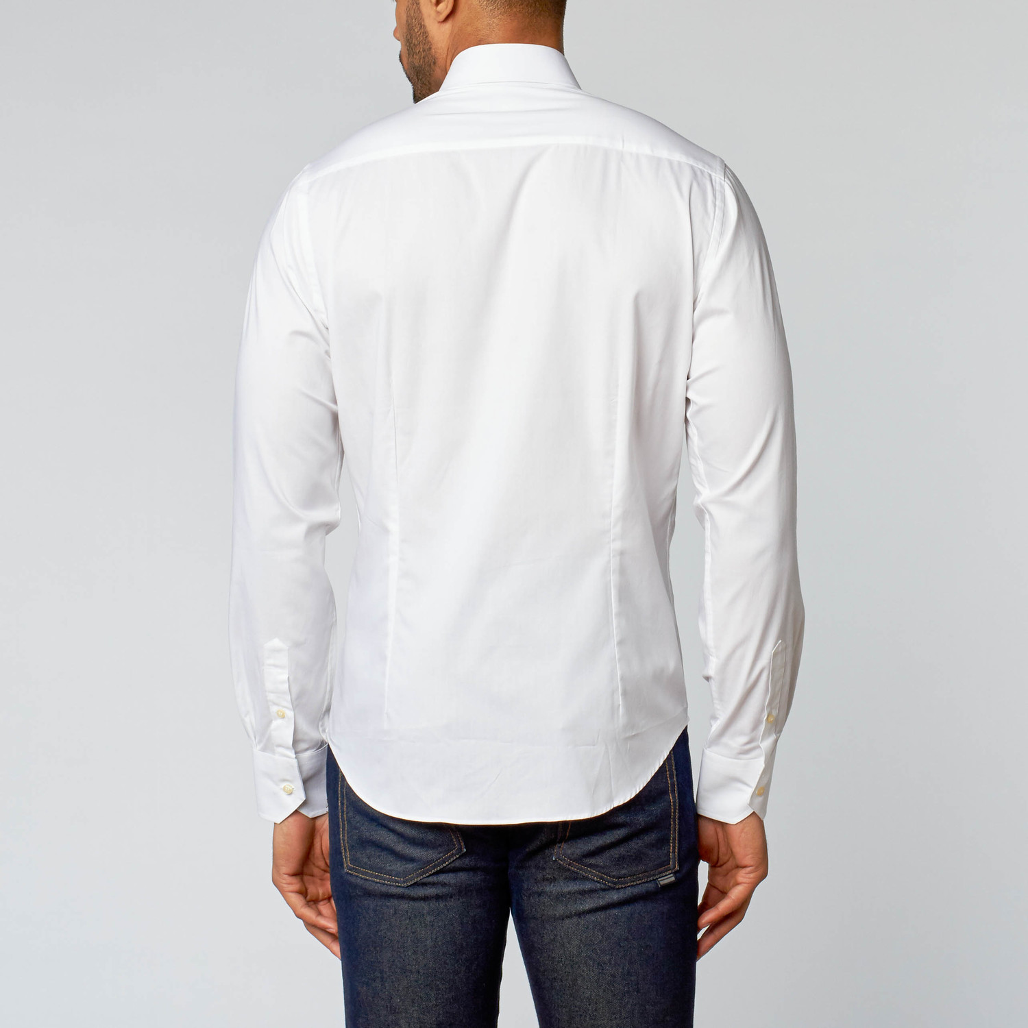 Button down shirt heavy weight white us 38 for Heavy button down shirts