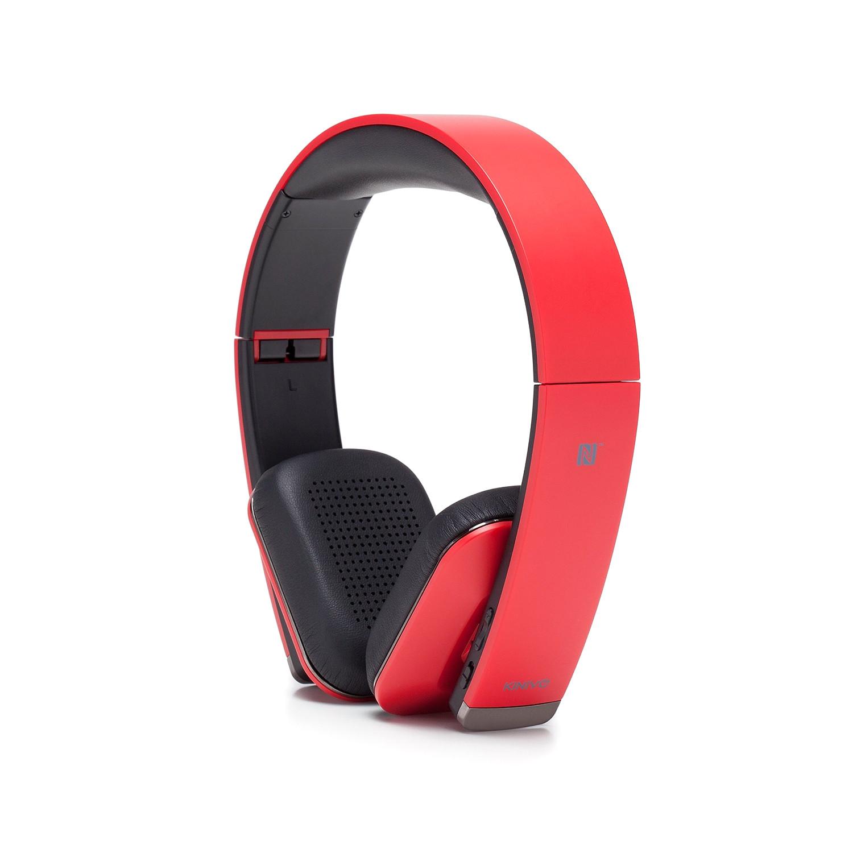 Urbn Premium Bluetooth Headphones Candy Apple Red Kinivo