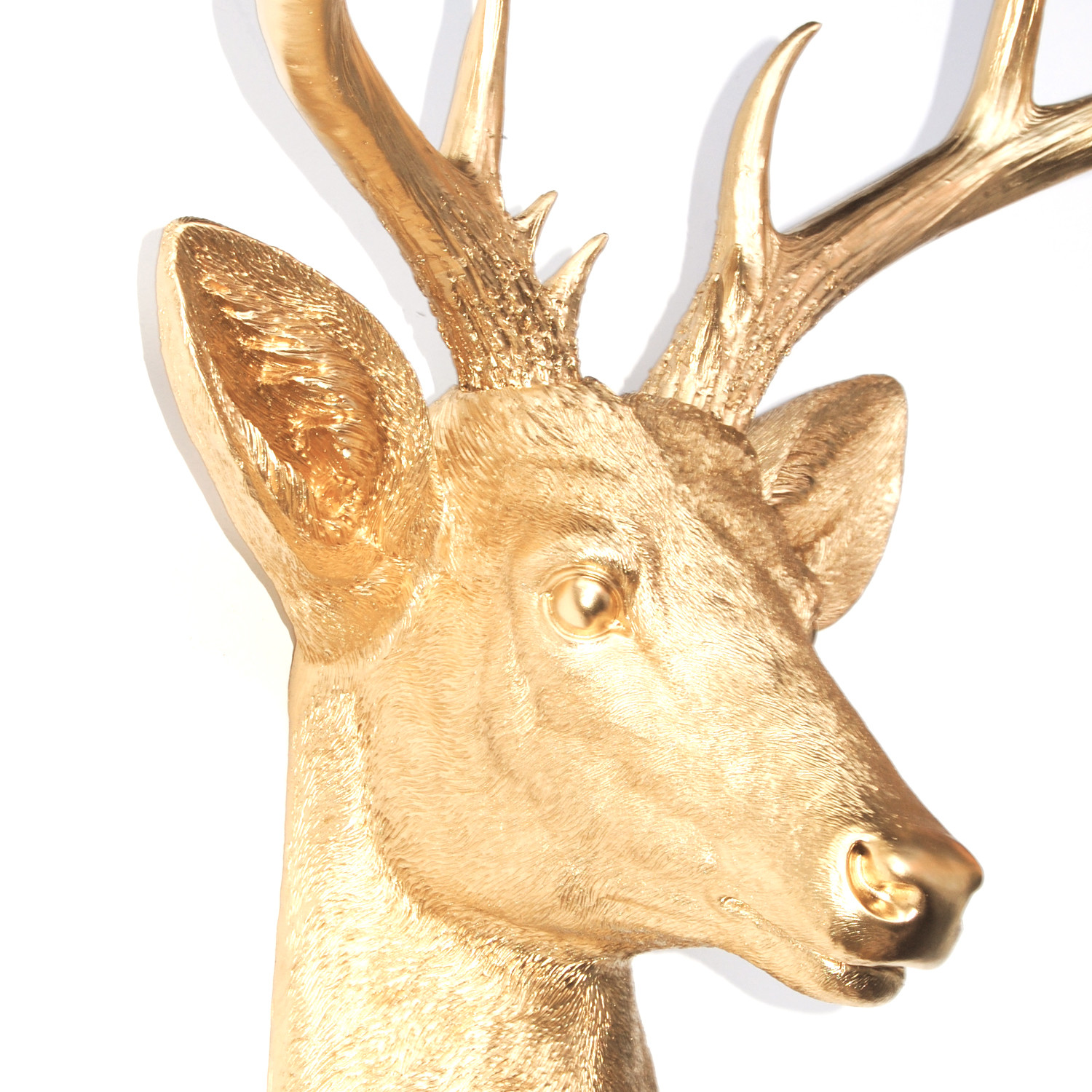 14 Point Deer Head Wall Mount (Black + Gold) - Near And Deer - Touch ...