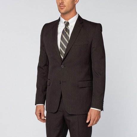 Versace Collection // Pinstripe Suit // Black (Euro: 46R)