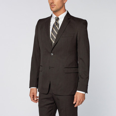 Thin Pinstripe Suit // Black