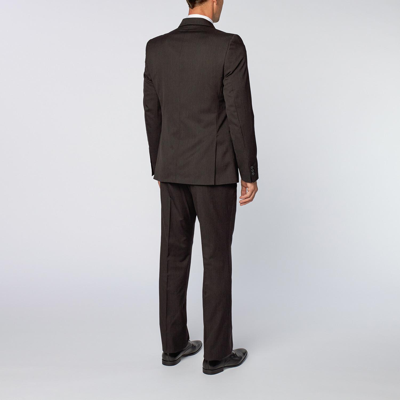 Thin Pinstripe Suit // Black (US: 46R) - Versace ...