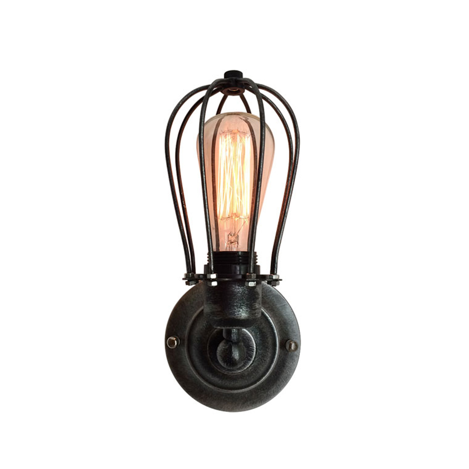 Industrial Cage Light Wall Sconce