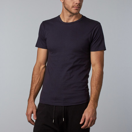 Combed Cotton Tee // Navy (S)
