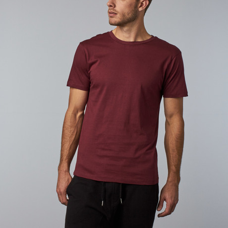 Combed Cotton Tee // Burgundy (S)