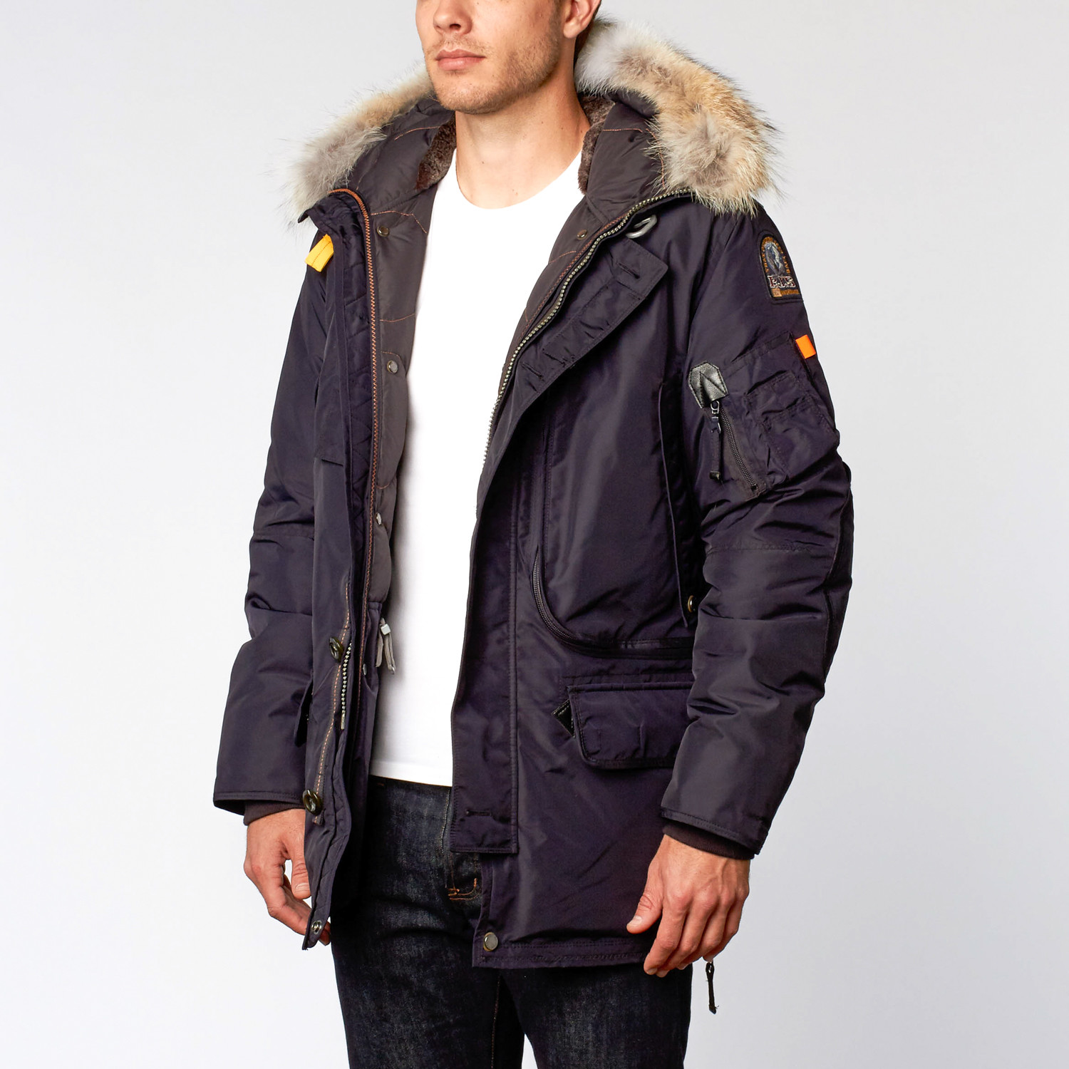 Kodiak Fur Trimmed Nylon Jacket // Navy (2XL)