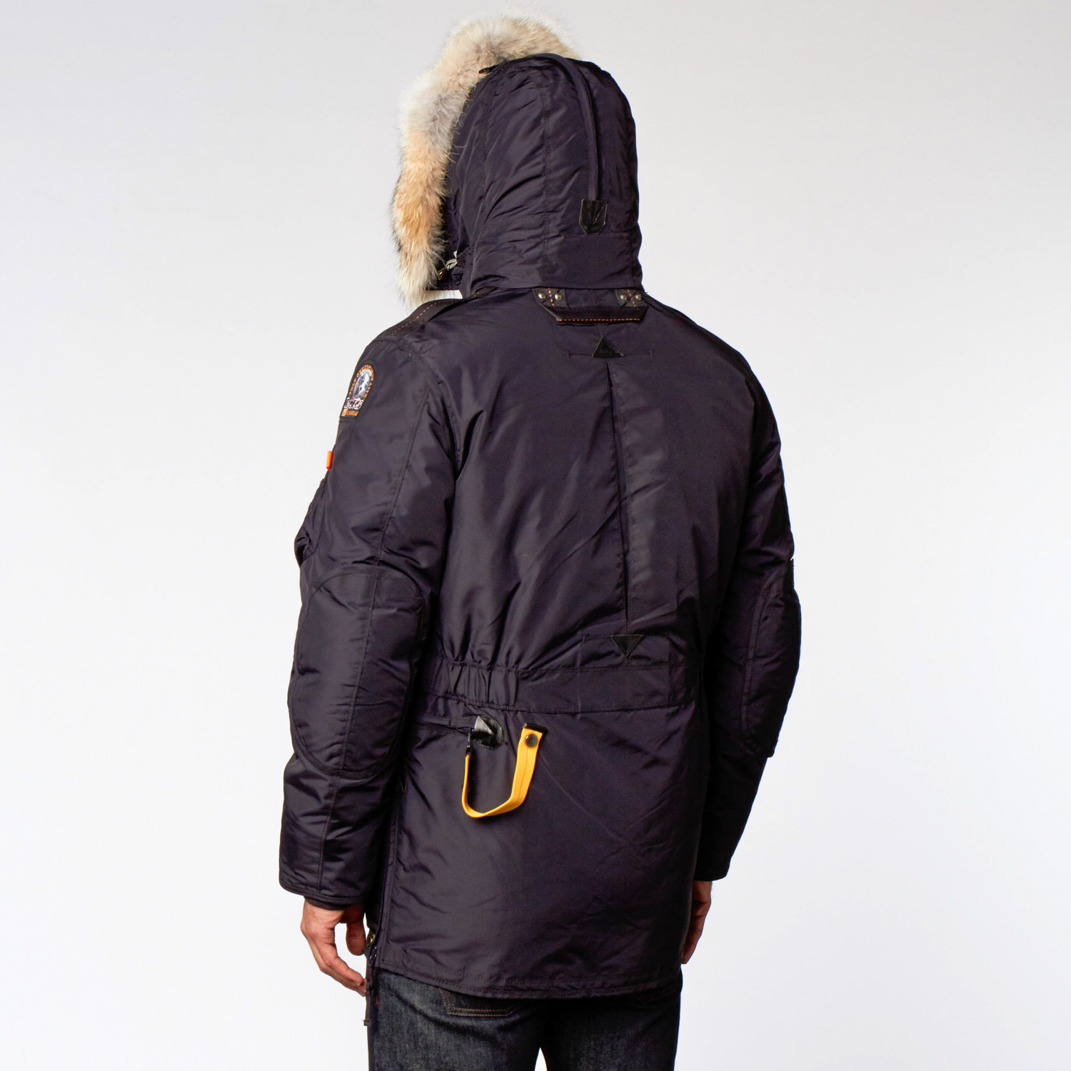 Kodiak Fur Trimmed Nylon Jacket // Navy (XS)