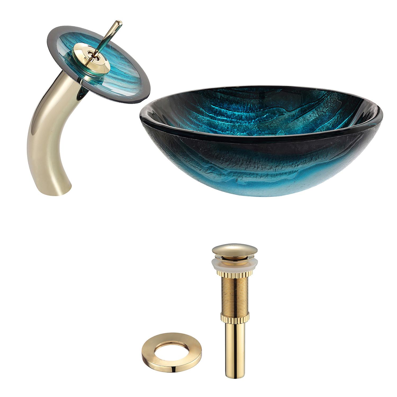 Glass Vessel Sinks. Save To Idea Board Crystalline Glass Circular ...
