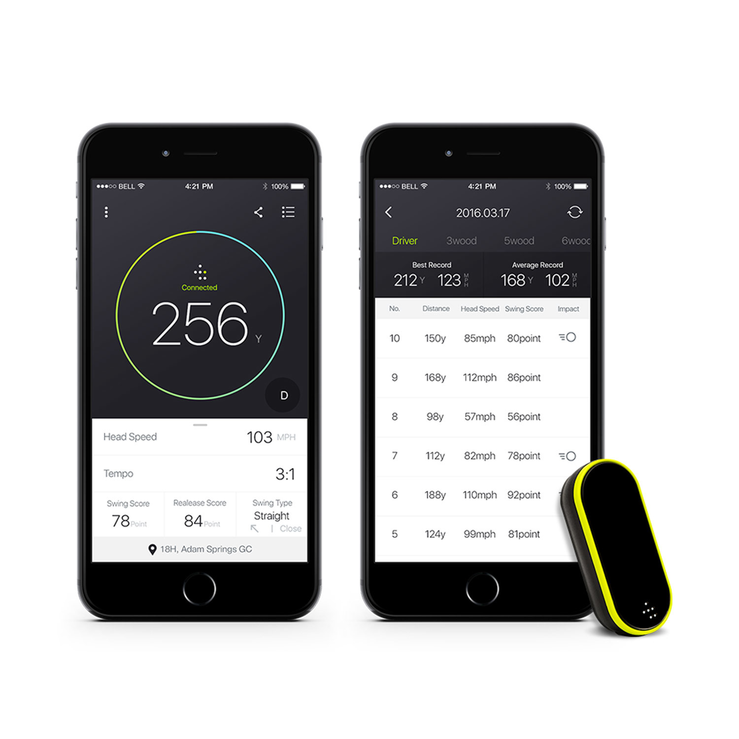 Golf Swing Analyzer Master Pack tile Touch of Modern