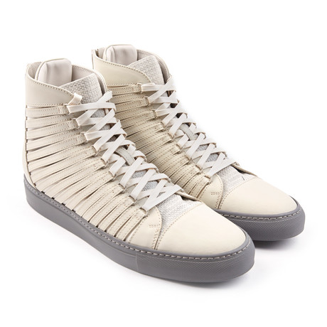 Radial Leather High-Top // Matte White (Euro: 42)