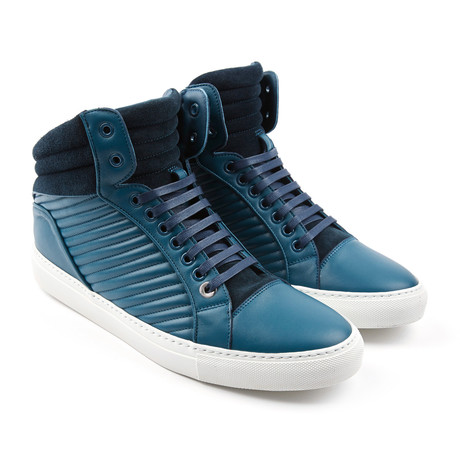 Libertine Suede Quilted Mid-Top // Marine (Euro: 43)
