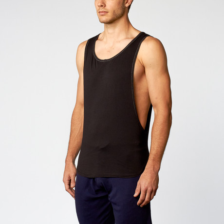 L.A Wash Air Muscle Tee // Black