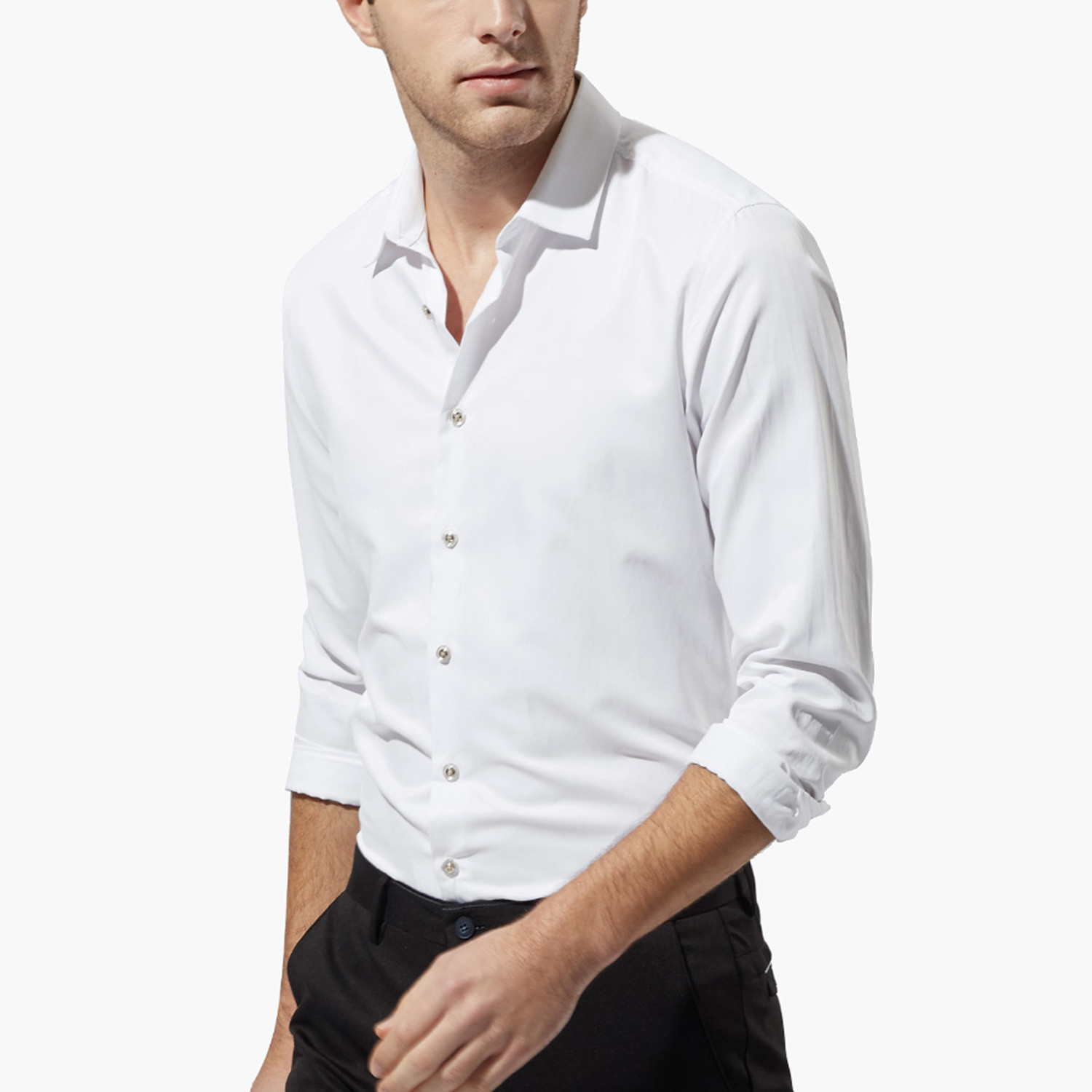 classic dress shirt white s qzhihe touch of modern