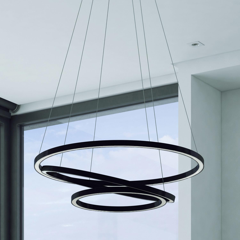 Capella Three Ring Chandelier Vonn Lighting Touch of Modern