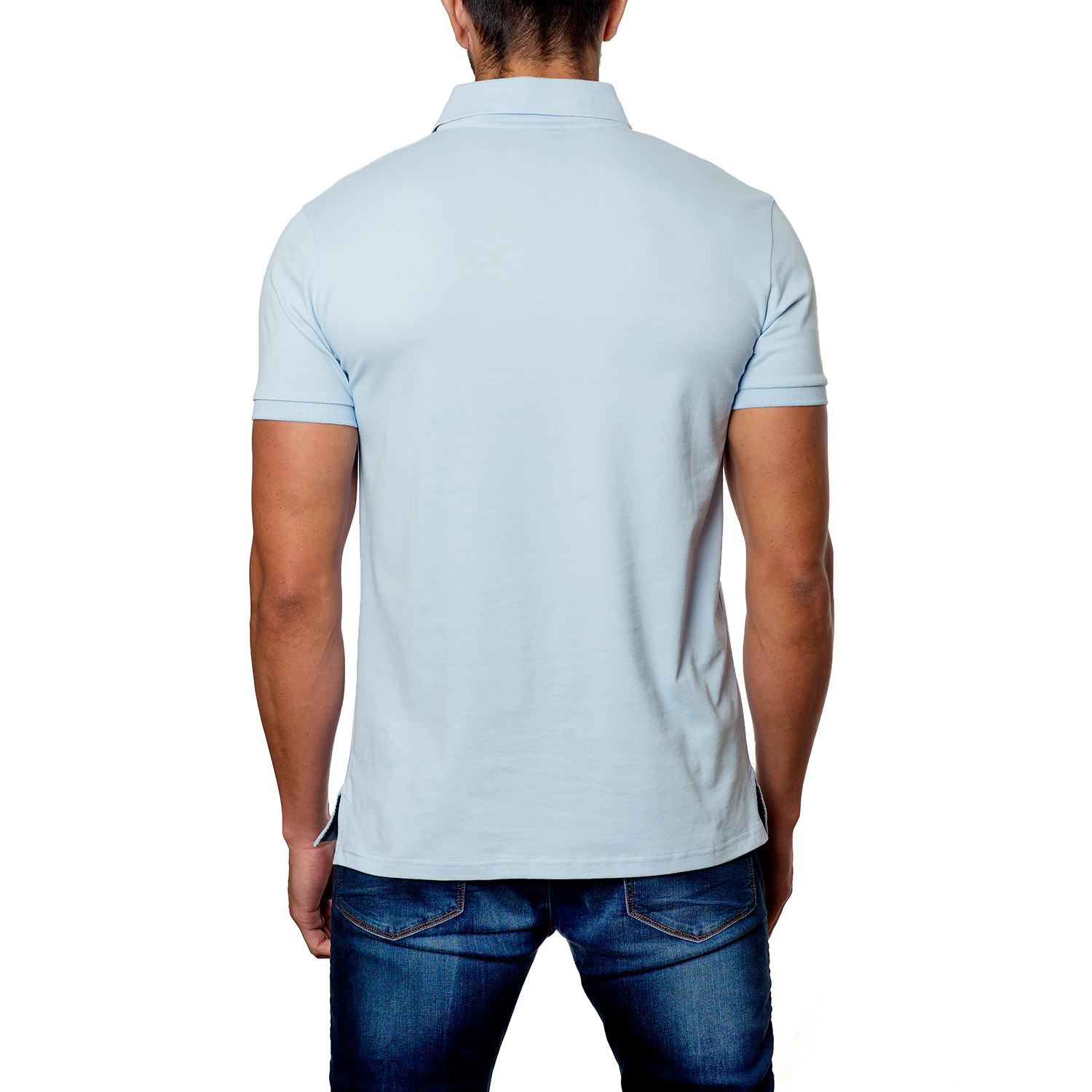 Jared Lang // Classic Short-Sleeve Polo // Light Blue (S ...