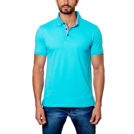 Classic Short-Sleeve Polo // Turquose