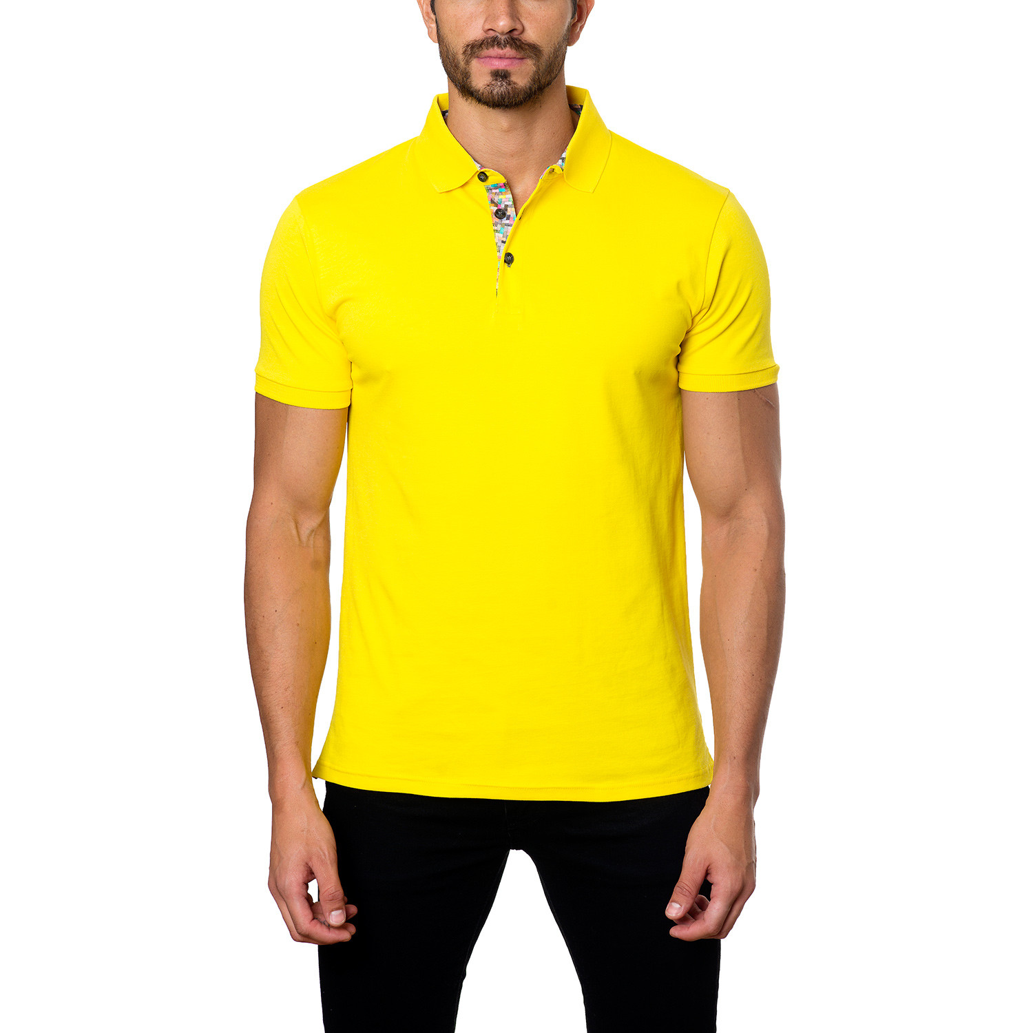 Jared Lang // Classic Short-Sleeve Polo // Yellow (S ...