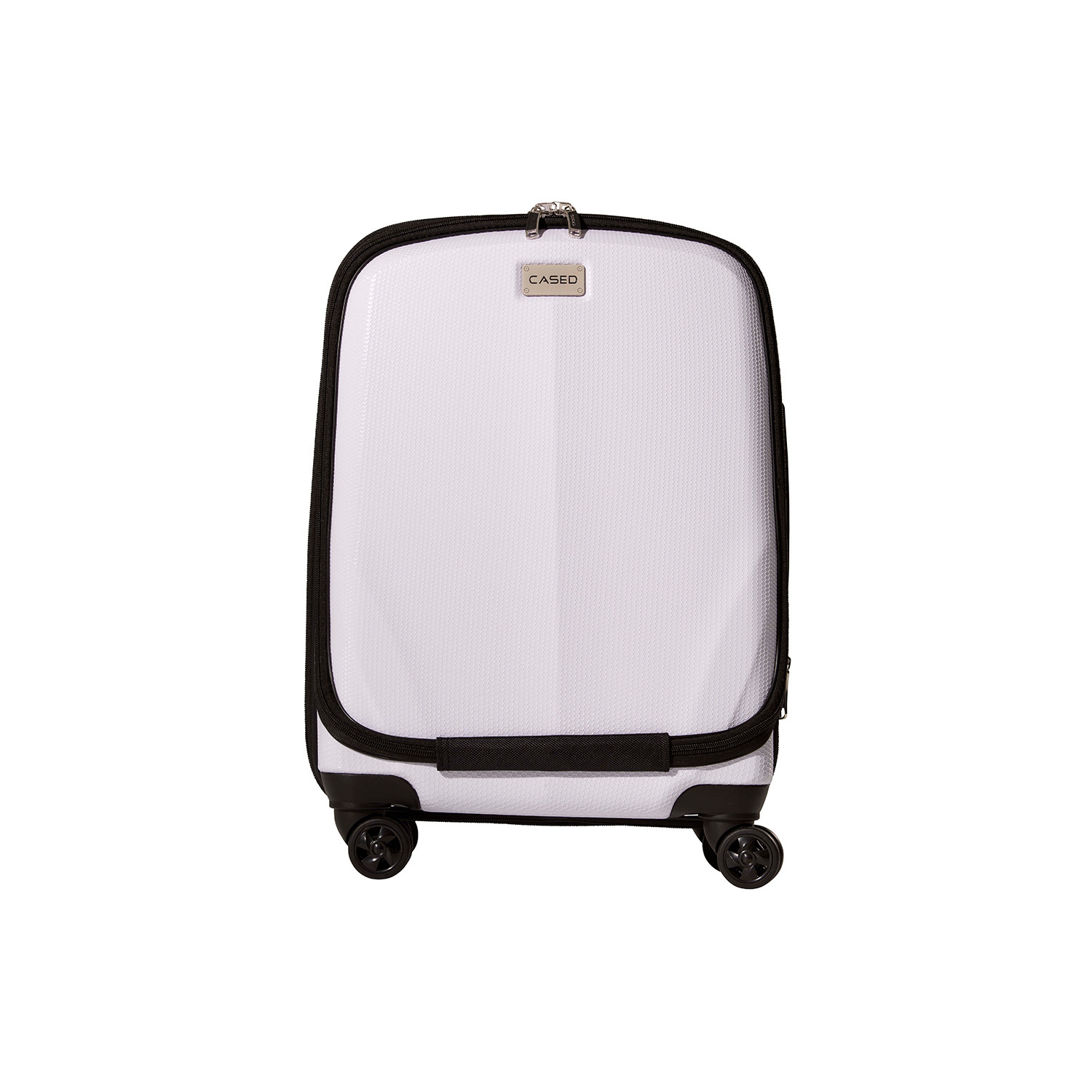 Cased Luggage White 22 Quot Carry On Cased Luggage