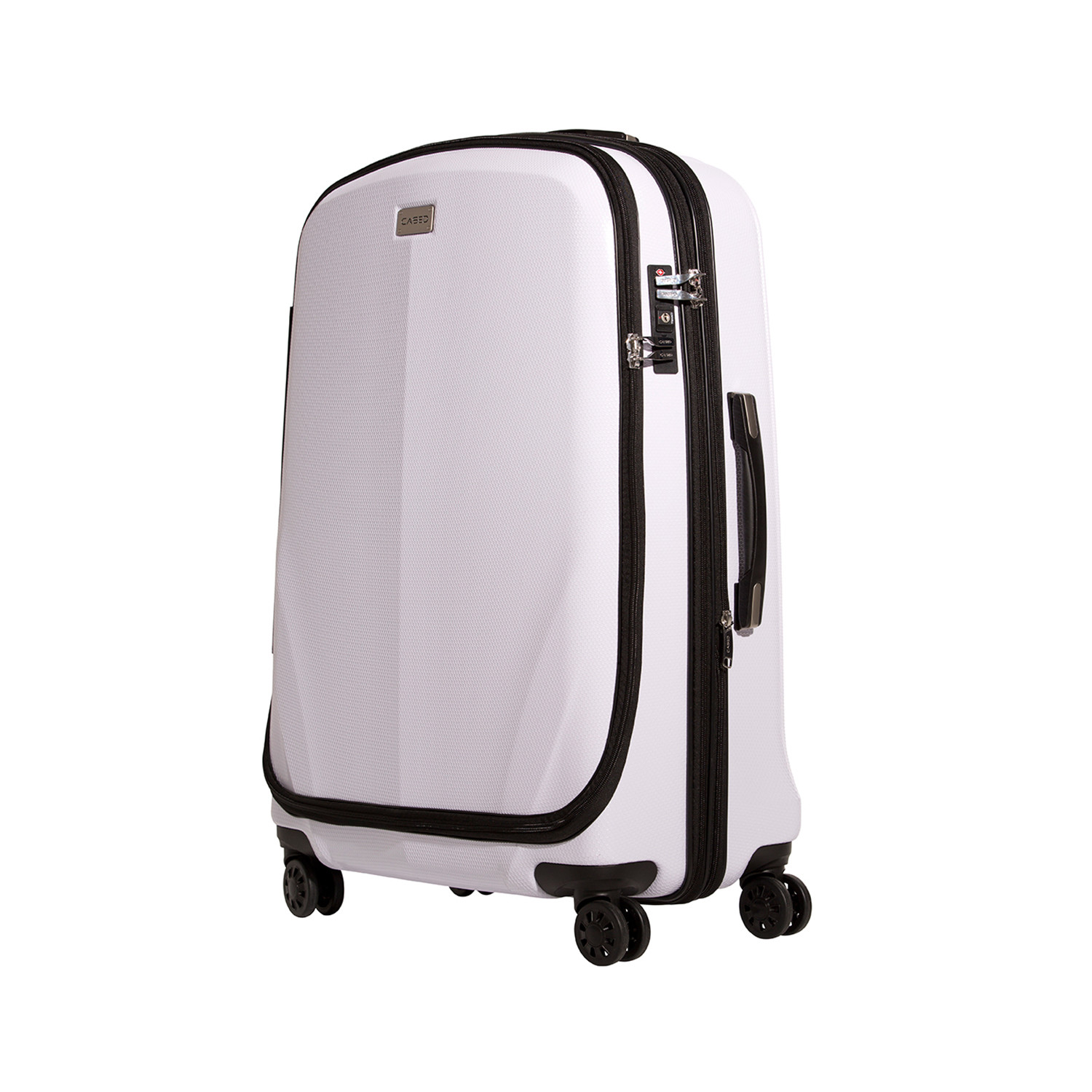 cased luggage  the ultimate traveling solution  touch of modern - cased luggage  white (