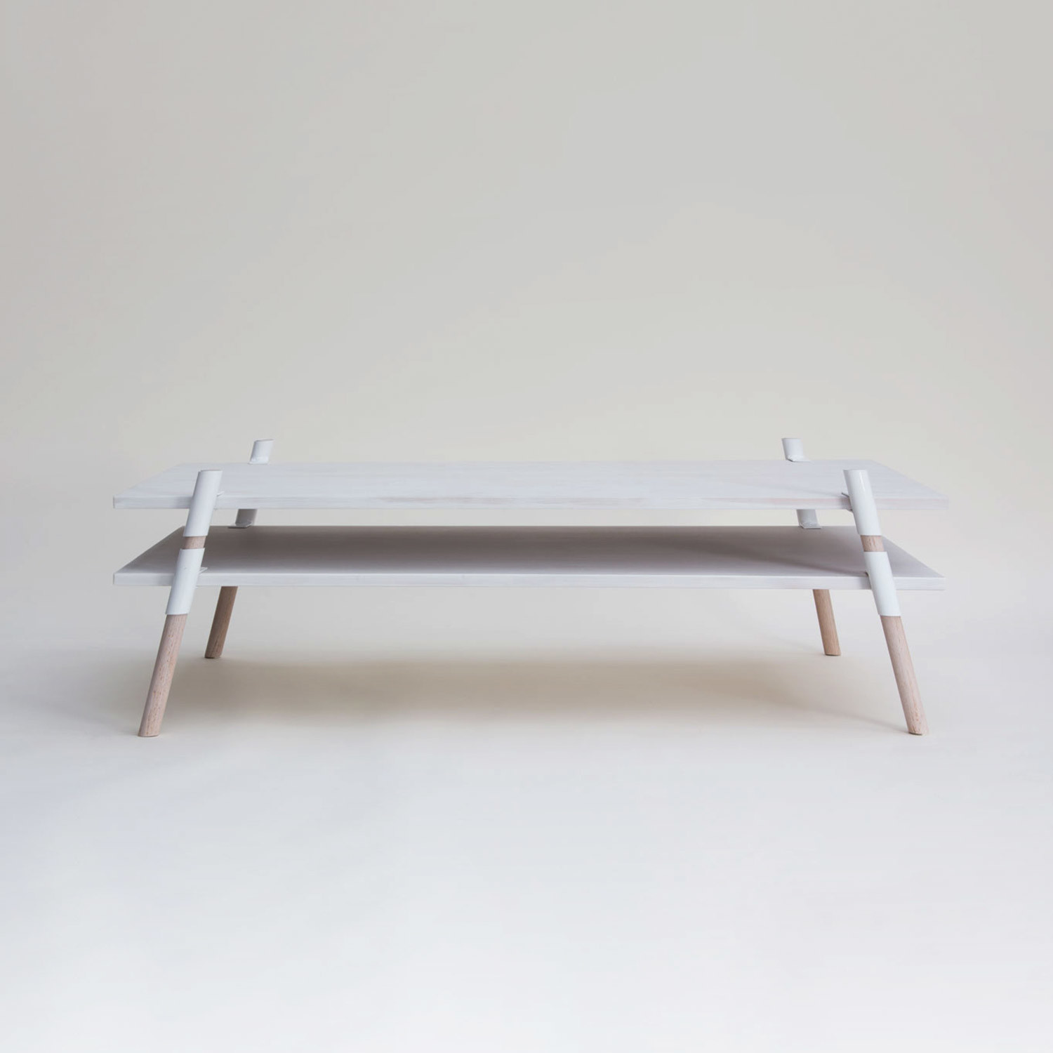 2 Tier Coffee Table Bleached Alder Yield Touch Of Modern
