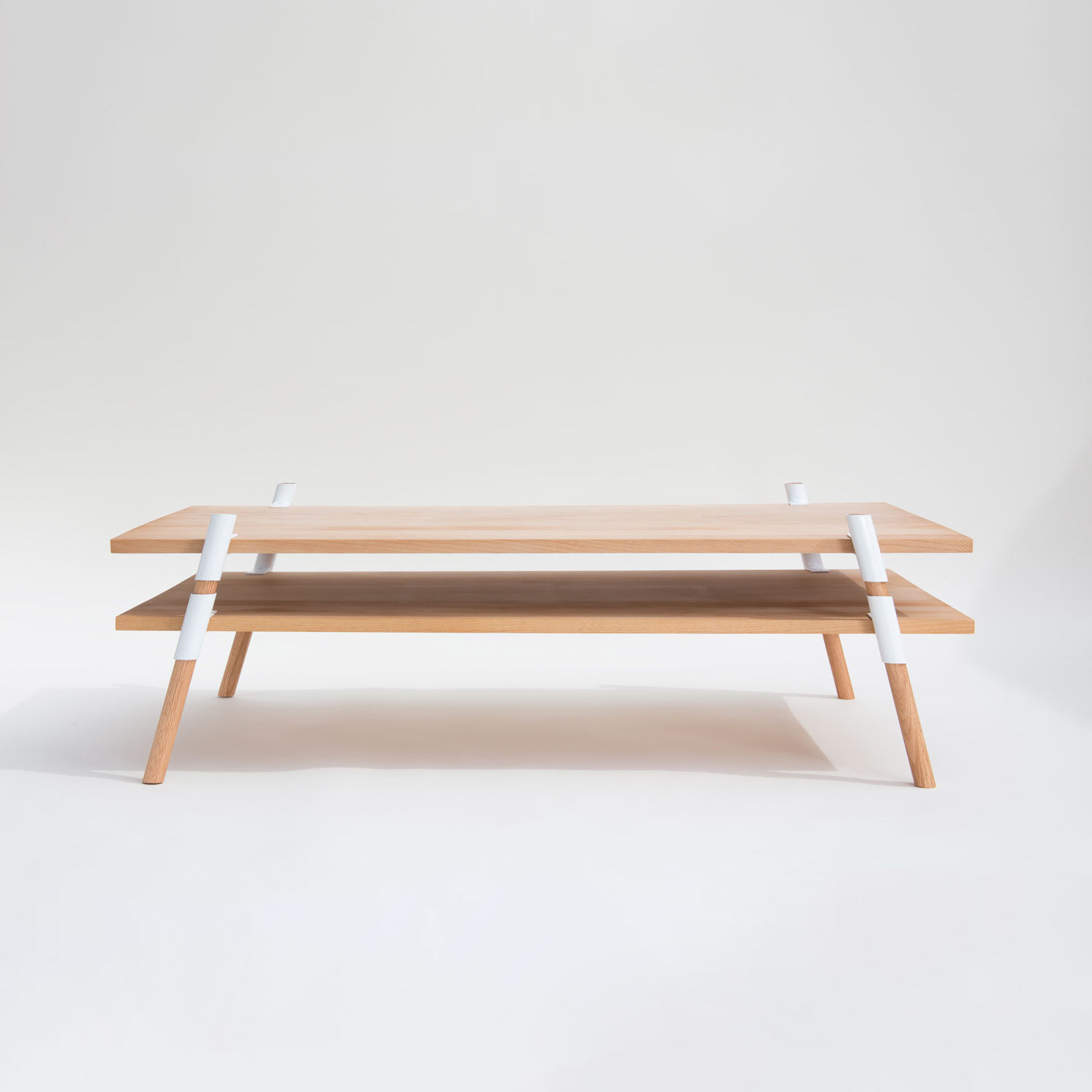 2 Tier Coffee Table Alder Yield Touch Of Modern