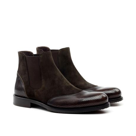 Lorens // Modern Mixed Chelsea Boot // Brown (Euro: 42)