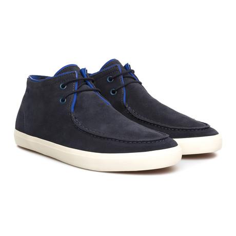 Motel Suede Boat Shoe // Blue