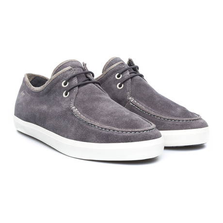Motel Suede Boat Shoe // Grey
