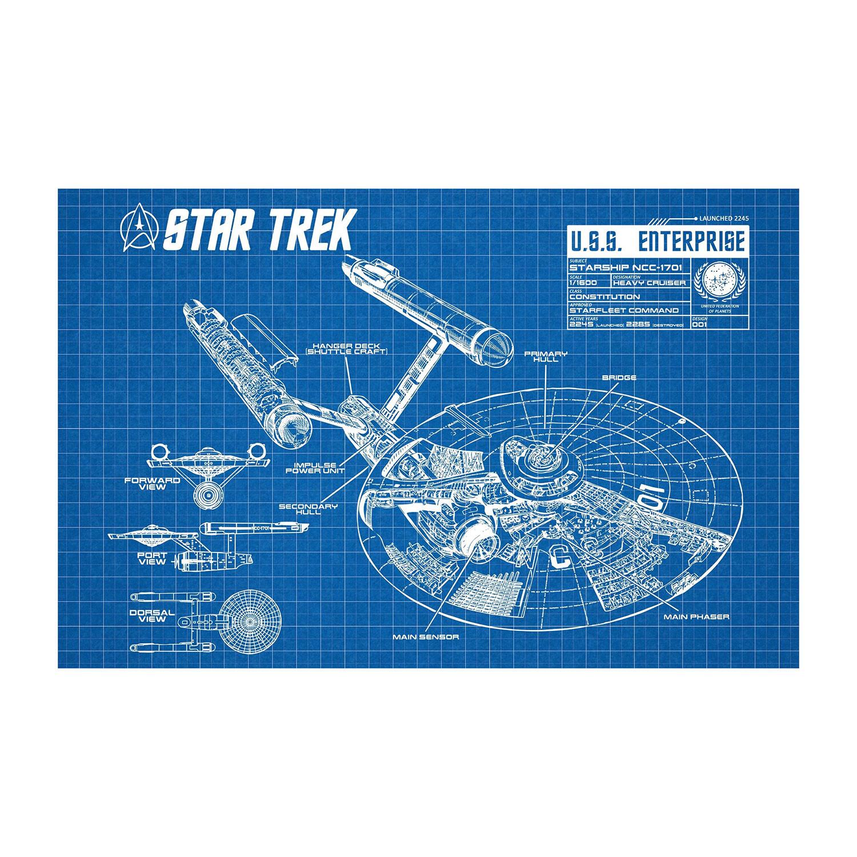 Star Trek Uss Enterprise Infographic White Grid Inked Engineering Schematics