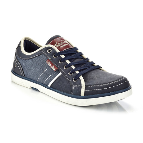 Marco Vitale // Retro Lace-Up Sneaker // Navy (US: 8.5)