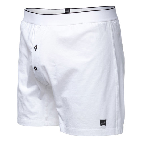 Pierce Relaxed Boxer Briefs // Retro White (S)
