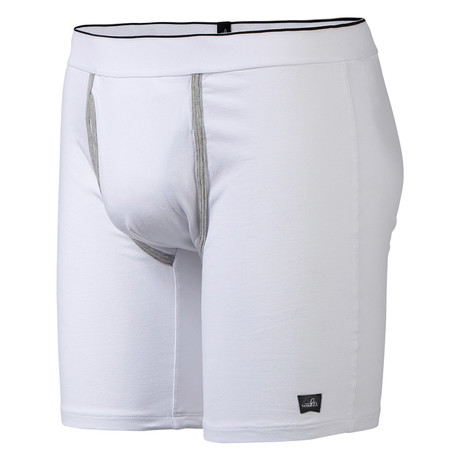 Grant Long Boxer Briefs // Retro White (S)
