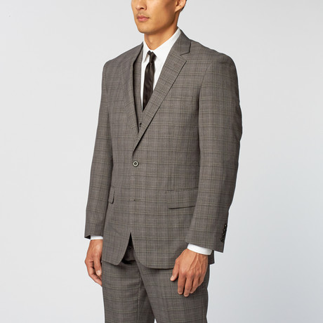 Shadow Plaid Classic Fit Suit // Grey