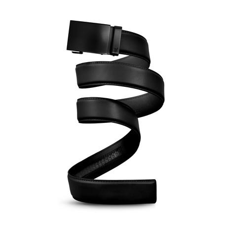 Unobtanium Leather Belt // Black