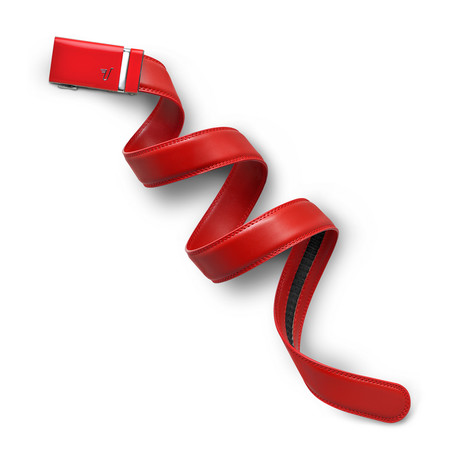 Ferrari Leather Belt // Red