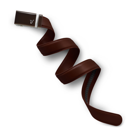 Chocolate Leather Belt // Brown (Small // 28-32)