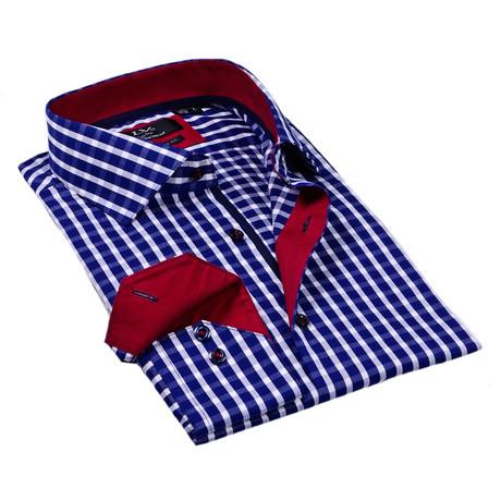Button-Up Dress Shirt // Navy Gingham