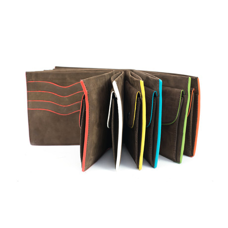 Colored Slim Fold Wallet