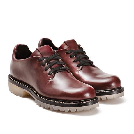 FEIT // 4-Eye Leather Oxford // Oxblood