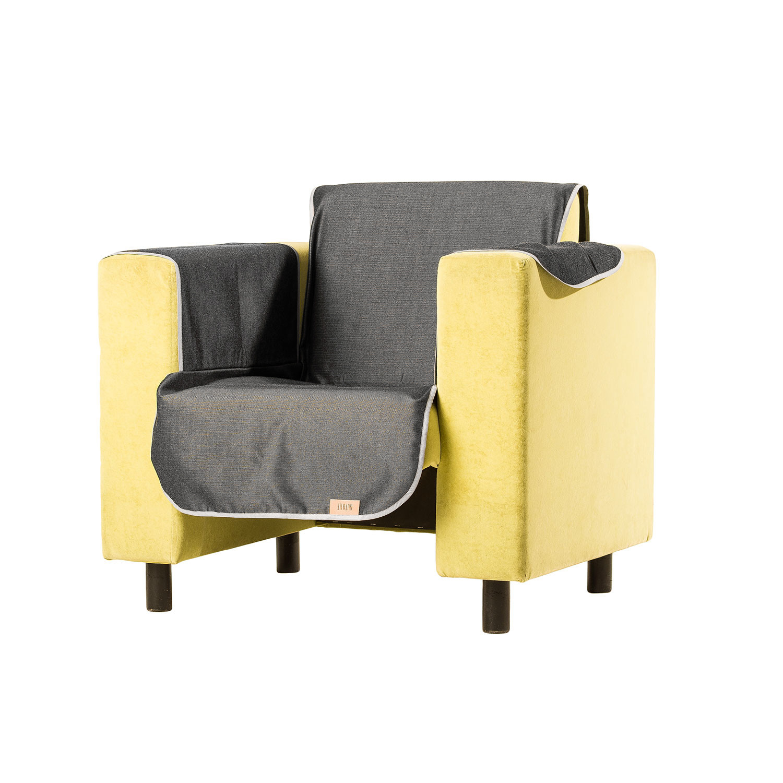 Light Grey Sofa Slipcover: Sofa Cover Sirius // Light Grey (Medium)