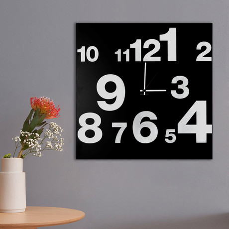Clock Numbers Line