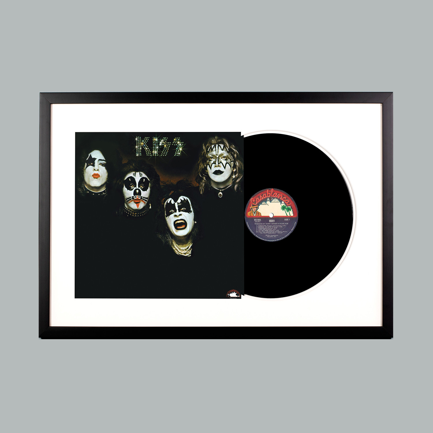 kiss kiss lp black frame