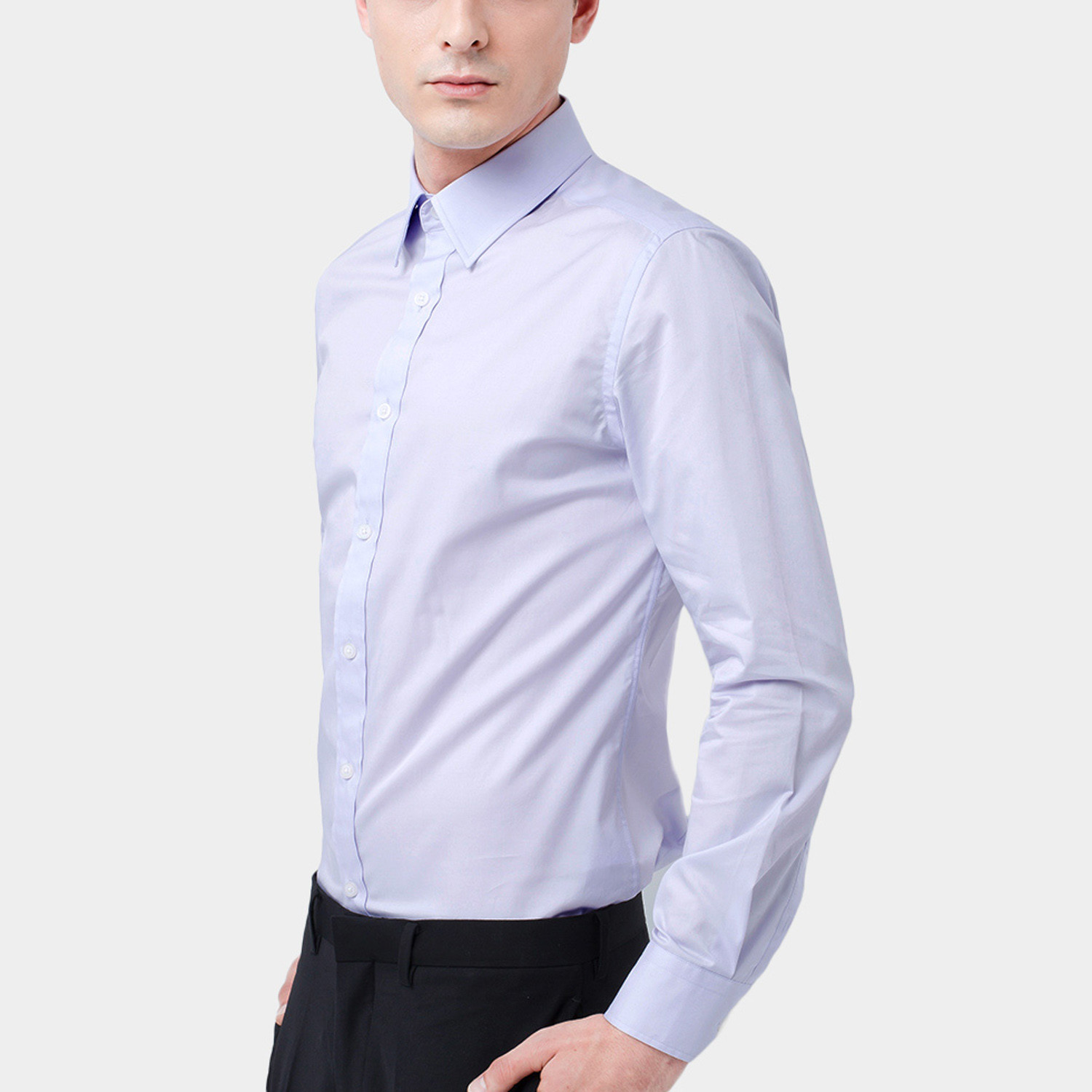 Classic dress shirt light purple xs basique touch for 20 34 35 dress shirts