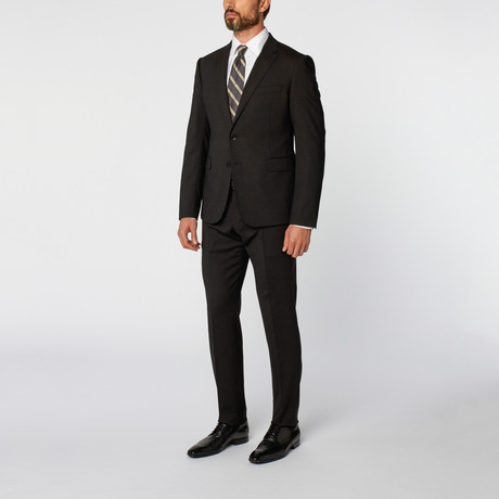 Leonardo Notch Lapel 2-Piece Suit // Black