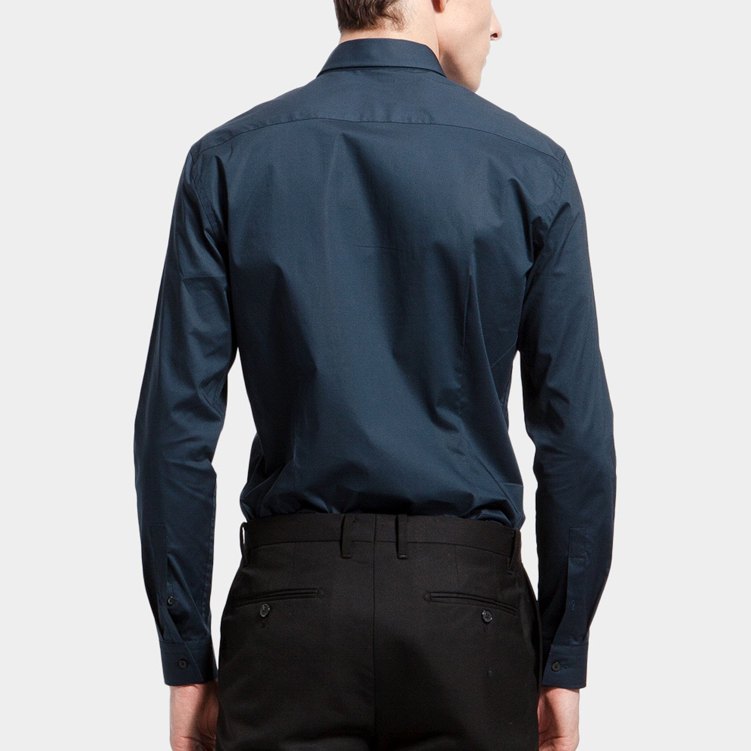 Vital dress shirt navy xs basique touch of modern for 20 34 35 dress shirts