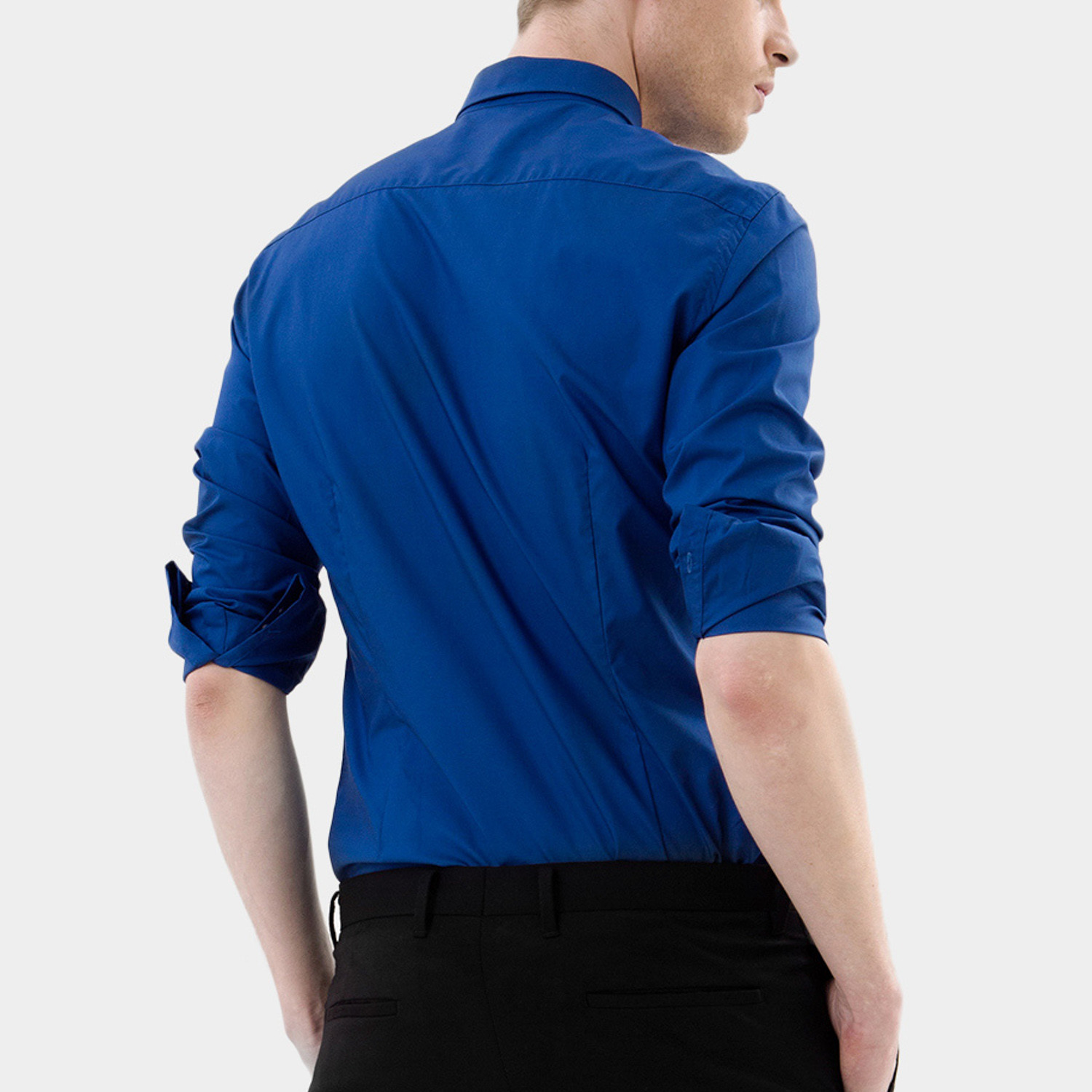 Bold dress shirt blue xs basique touch of modern for 20 34 35 dress shirts