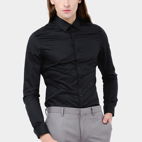 Ruth Dress Shirt // Black
